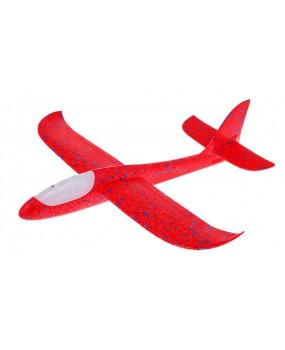 Polystyrénový model lietadla červený